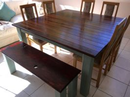 Table and bench - Peter Ochse